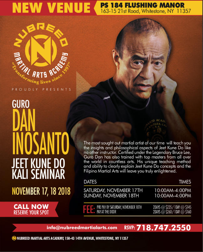 guru dan inosanto nubreed martial arts whitestone queens ny